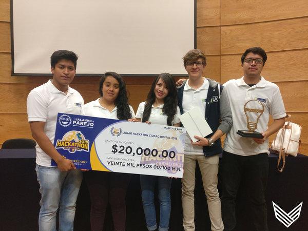 """Halcones campeones de la 3era edición """"Hackathón Ciudad Digital 2018"""""""