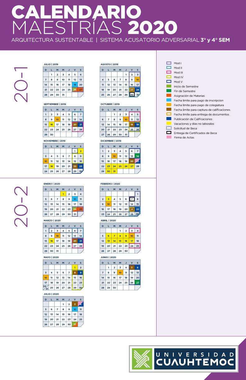 Calendario Arquitectura