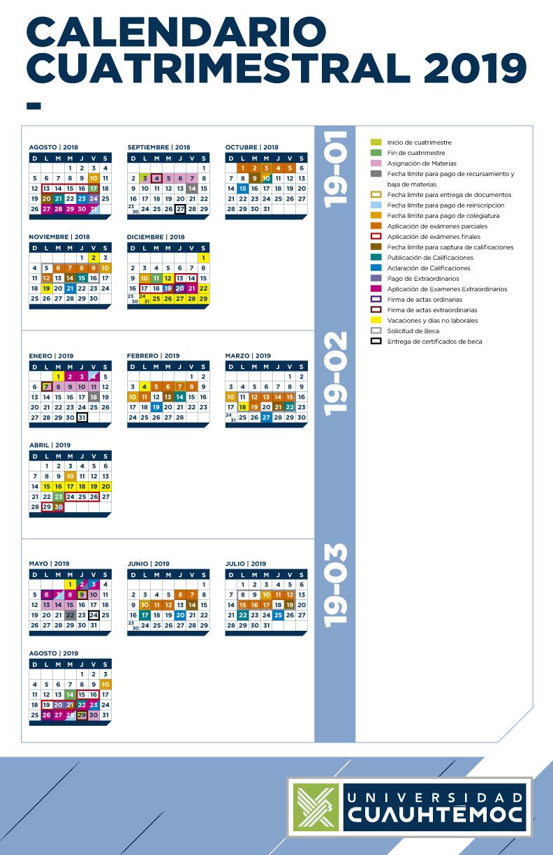 Calendario Cuatrimstral