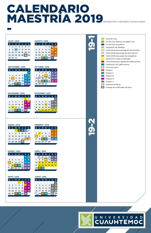 Calendario Maestrias