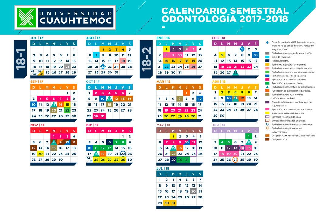 Calendario Odontología