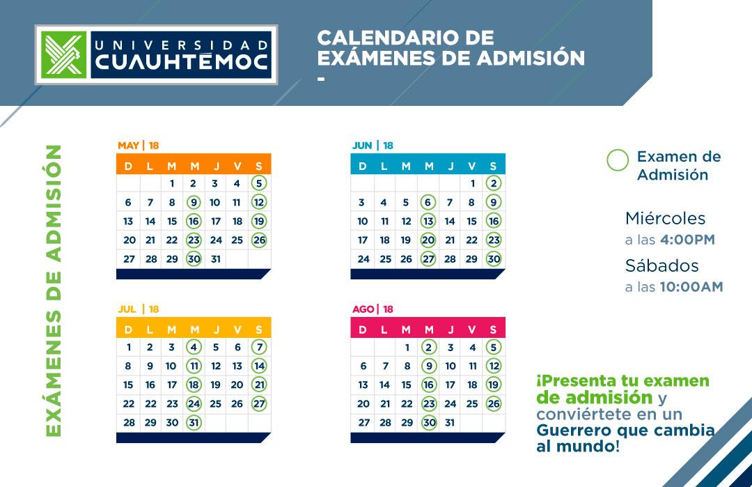 Calendario Especialidades