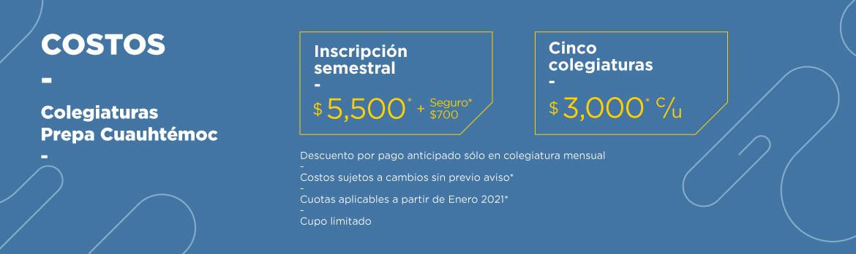 costos prepa UCQ 2020